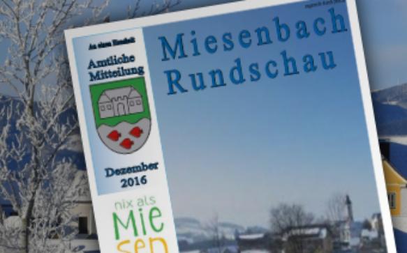 Die Miesenbach-Rundschau Weihnachten 2016 ist online
