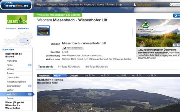 Unsere Webcam jetzt auf bergfex.at