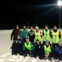 Fußball im Winter? Trainingsbeginn war Anfang Feber