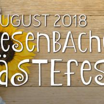 Das Miesenbacher Gästefest 2018 kommt