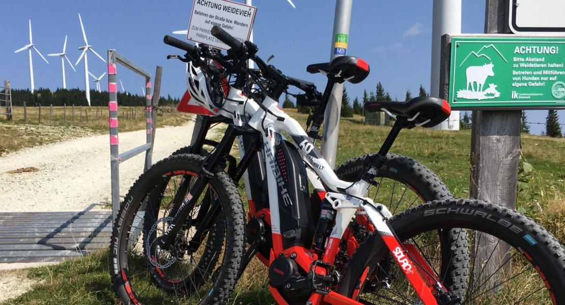 Von Miesenbach per E-Bike in die Waldheimat