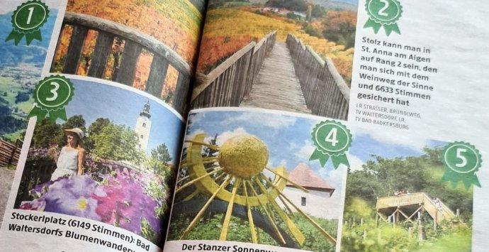 Wasserweg ist 7. beliebtester Themenwanderweg der Steiermark