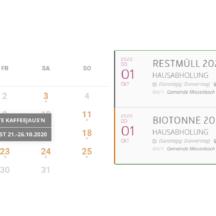 Neuer Kalender auf unserer Homepage