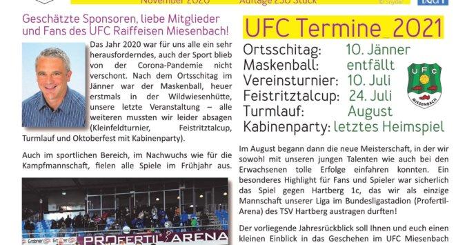 Jahresrückblick des UFC Miesenbach 2020