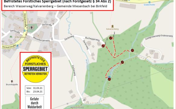 Forstarbeiten im Bereich des Kalvarienbergs